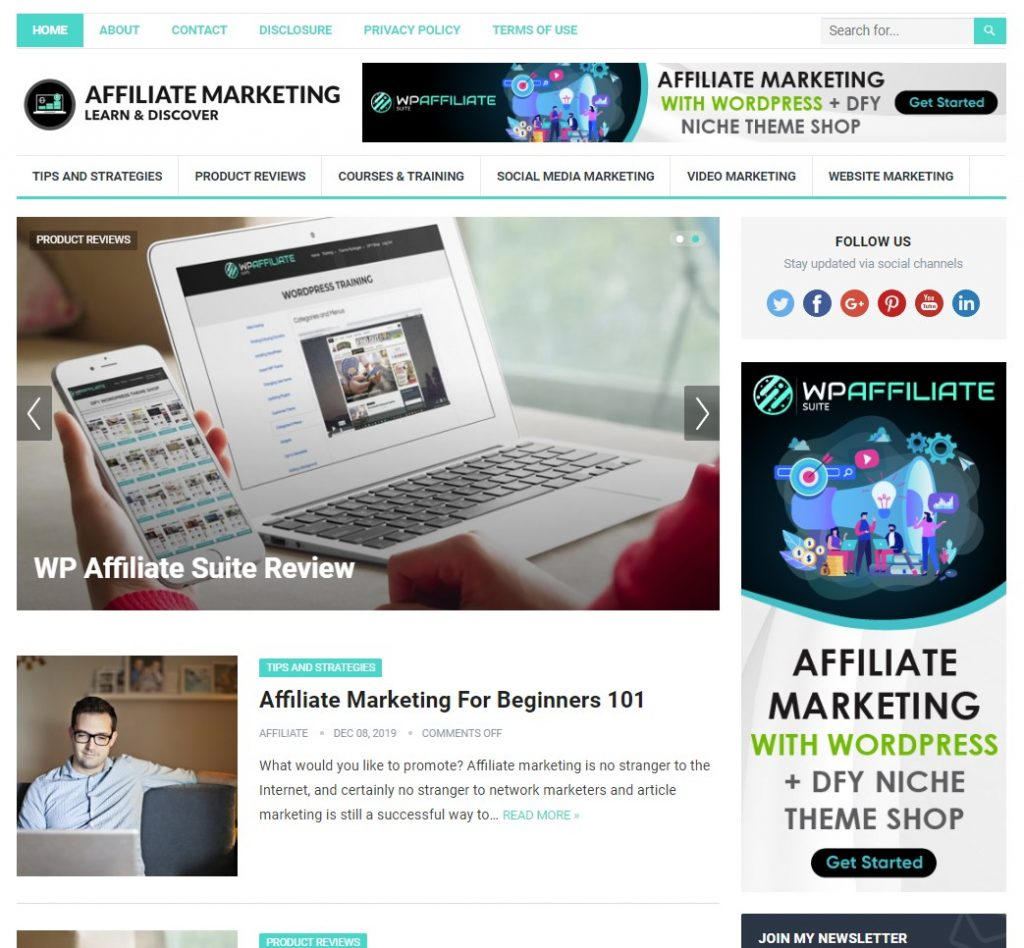 WP Affiliate Suite Theme