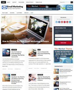 email marketing wp theme