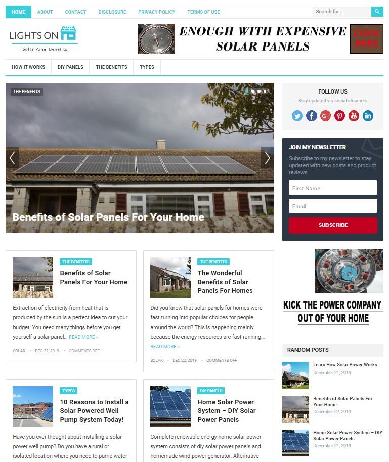 solar power wp theme