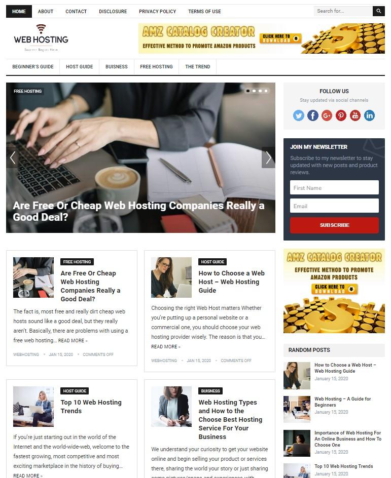 web hosting wp theme
